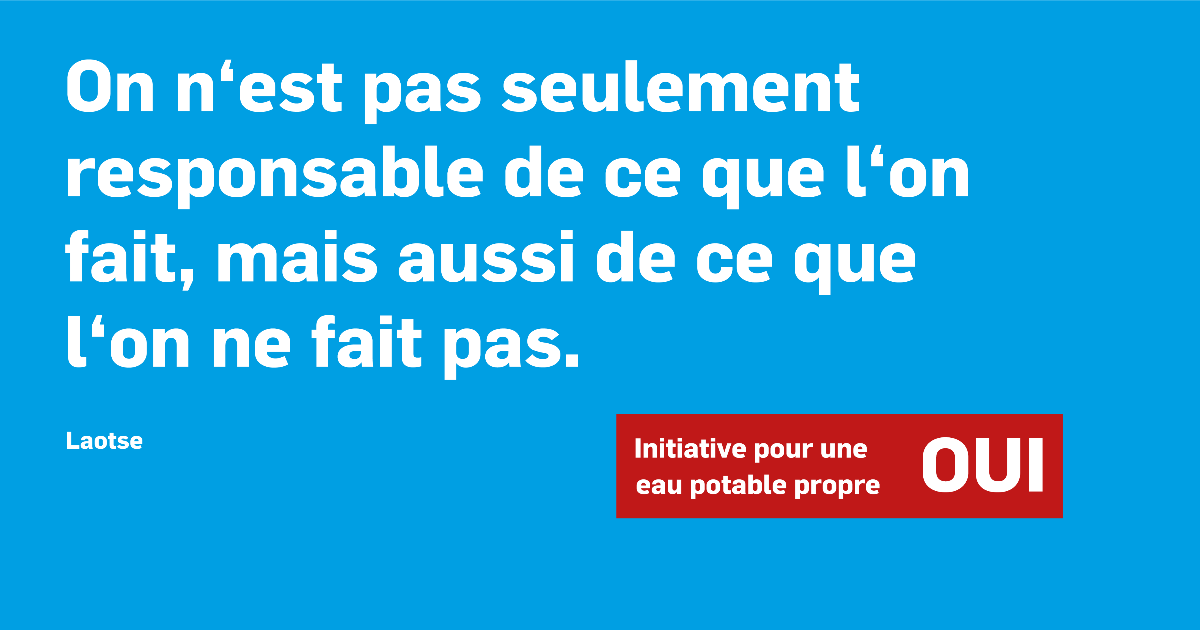 Initiative Eau propre - Slogan