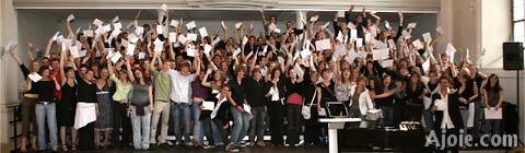 Photographie des bacheliers 2007 du Lycée cantonal de Porrentruy